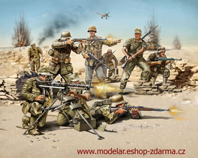Revell figurky German Infantry WWII, Afrika Corps 1:72 02513