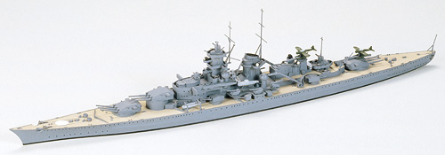 Tamiya Gneisenau German Battlecruiser 1/700 77520